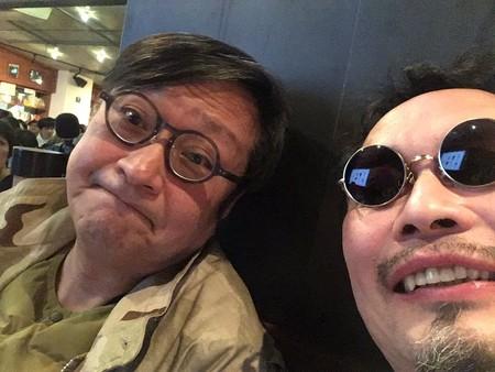 和光大学の大先生になった元祖新人類の野々村文宏さんと。LOFT9で。.jpg